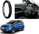 #1: Auto Pearl - Adinox Premium Quality Ring Type Car Steering Wheel Cover (Diamond Plus Black Red) For -Tata Nexon