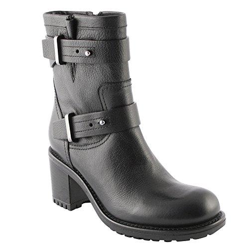 Exclusif Paris  Exclusif Paris Janis, Chaussures femme Bottines femme,  Damen Stiefel & Stiefeletten Schwarz - Schwarz