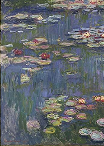 CLAUDE MONET Water Lilies, detail c1916 Reproduction Poster on 200gsm A3 Low-Sheen Satin Art Card