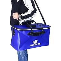 VORCOOL Faltbare Angeln Wassereimer Portable Live Köder Eimer können 50 x 28 x 30 cm (blau)