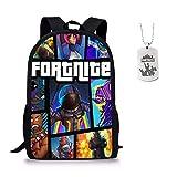 Fortnite School Backpack, Student Backpack College Bookbag Mochila de viaje Daypack Mochila informal para chicas adolescentes Niños y mujeres (1 Pack)