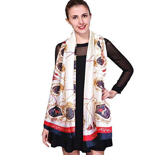 2cfc12878 iEverest Luxury Silk Scarf Mulberry Silk Scarves for Women Beach Silk  Sunscreen Shawl Wrap ladies Satin