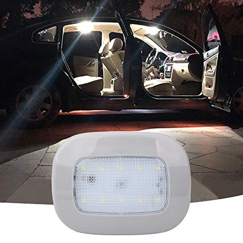 Luci da tetto a soffitto per auto Luci a cupola magnetiche con USB universale 10 LED ricaricabili per interni ed esterni di auto, barca, rimorchio, camper, camion