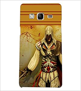 PrintDhaba Warrior D-1891 Back Case Cover for SAMSUNG Z3 (Multi-Coloured)