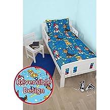 Paw Patrol Hero Junior - Juego de cama reversible con funda de edredón para niño pequeño, niño mayor y cuna, nuevo diseño