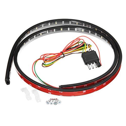Für Licht-bar Lkw Heckklappe (YONGYAO 90Cm 120Cm 150Cm Auto Led Heckklappe Drl Flexible Strip Licht Bremse Turn Signal Lampe Bar Für Lkw-90Cm)
