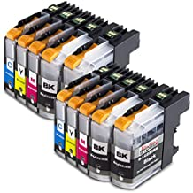 10x Cartridge Brother LC223 XL LC223XL Multipack Compatible Ink Cartridges Replacement for Brother DCP-J4120DW DCP-J562DW MFC-J480DW MFC-J680DW MFC-J880DW MFC-J4420DW MFC-J4425DW MFC-J4620DW MFC-J4625DW MFC-J5320DW MFC-J5620DW MFC-J5625DW Serie ,high capacity