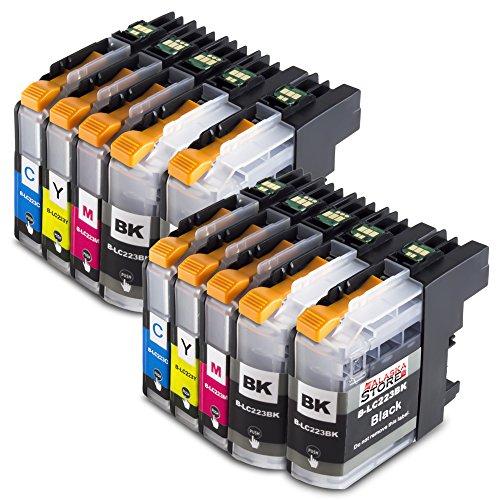 10x Druckerpatronen Komp. für Brother LC223xl LC223 XL LC-223 XL LC-223XL für Brother mfc-j5320dw patronen MFC-J5320DW MFC-J480DW MFCj480 dw DCP-J562DW - Drucker 13x19