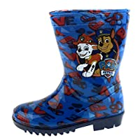 Boys Official PAW Patrol Wellies Blue Wellys RAIN Wellington Boots UK Size 5-10 (8 UK Child)