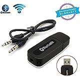 Bluetooth Stereo Adapter Audio Receiver 3.5Mm Music Wireless Hifi Dongle Transmitter Usb Mp3 Speaker Car(Black)