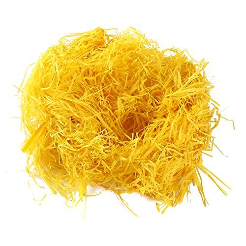 Yinew zerfetztes Seidenpapier farbiges Geschenkbox-Füllungs-Papier DIY Ostern-Hühnernest-Füllungs-Geschenk-Korb-Dekoration, gelb