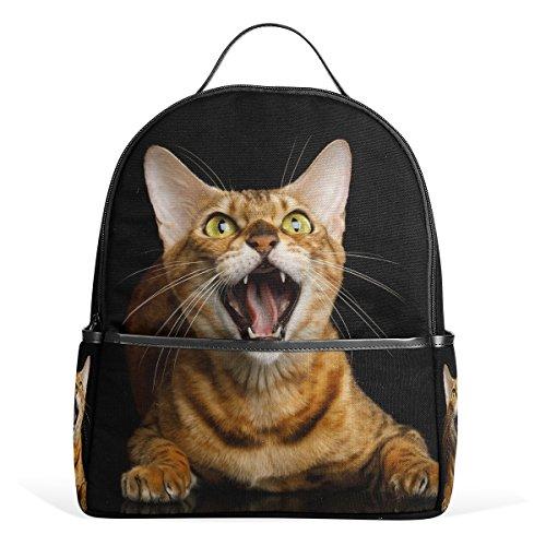 ALAZA Bengal-Katze-Rucksack für Schule Bookbag (Bengals-rucksack)