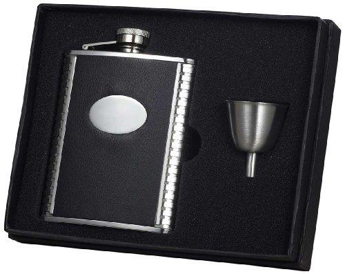 visol-tux-ribbed-design-leather-flask-gift-set-6-ounce-black-by-visol