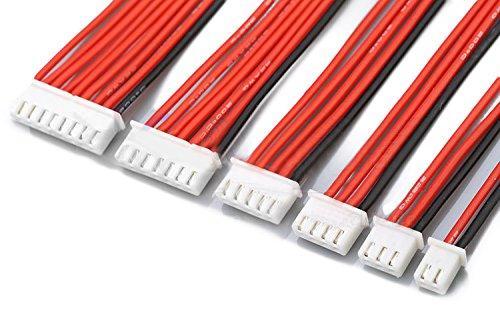 Ladicha 2.54 Xh 22Awg 13 Cm 1S 2S 3S 4S 6S 8S Cable De Equilibrio De Silicona Para Baterías Lipo-8S