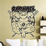 sticker mural Comics Art personnages de dessins animés Teenage Mutant Ninja Tortues Sticker Autocollant Décoration de la maison