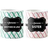 Special Wedding Anniversary Gifts, Awesome Sister And Brother In Law, Gifts For Indian Sister And Brother In Law, Printed Coffee Mugs For Newly Wed Couples (Set Of 2)