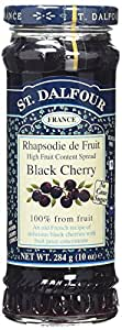 St Dalfour Black Cherry Preserve 284 g (Pack of 6)