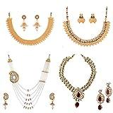 Best Four Piece Necklace - Zeneme Exclusive 4 pieces Necklace Combo set Review