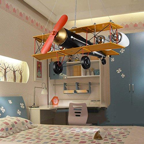 Guo Kinderzimmer-Lichter-Jungen-Schlafzimmer-Flugzeug-Lichter-Kronleuchter-Pers5onlichkeit-kreative Legierungs-Lampen-E27 Lampen-Hafen - 6