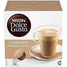 Nescafé Dolce Gusto - Cortado -  3 Paquetes de 16 Cápsulas de café - Total: 48 Cápsulas