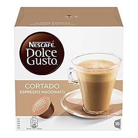 NESCAFÉ DOLCE GUSTO Cortado Espresso Macchiato Coffee Pods, 16 Capsules (Pack of 3 – Total 48 Capsules, 48 Servings) 517EZD8NqSL