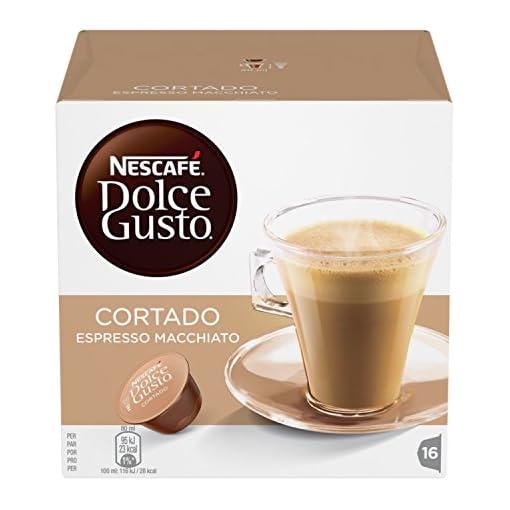 NESCAFÉ Dolce Gusto Cortado Espresso Macchiato Coffee Pods, 16 Capsules (48 Servings, Pack of 3, Total 48 Capsules)