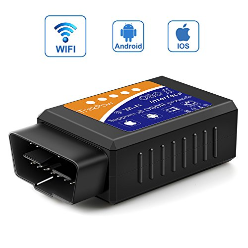 Globmall OBD2,TrekPow Auto Wifi OBD2, Drahtloser OBDII Auto-Codeleser-Scan-Werkzeug, Scanner-Adapter prüfen Motor-Diagnose-Tool für iOS Apple iPhone iPad Air Mini iPod Touch & - Tool-box Für Lkw