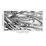 Gracorgzjs ⓖ ⓡ ⓐ 60x 120cm Rutschfeste Abstrakt Schwarz Weiß Print Fußmatte Sticker Home Küche Badezimmer Decor Multi