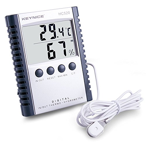 ometer Indoor Luftfeuchtigkeit Thermometer Wandhalterung Monitor Sensor Thermostat Home Office, digitale Innenthermometer mit Gedächtnis … (Indoor-office-thermometer)