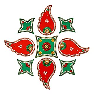Rangoli/Home Decor/Diwali / Gift for Home/Interior Handcrafted/Floor Stickers/Wall Stickers/Wall Decoration/Floor Decoration/New Year Gift/Party. Rangoli 21