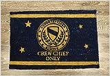 Stylische Fußmatte CREW CHEF ONLY 40x60 Kokos Blau