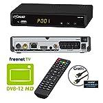 COMAG SL65T2 FullHD HEVC DVBT/T2 Receiver (H.265, HDTV, HDMI, Irdeto Zugangssystem, freenet TV, Mediaplayer, PVR Ready, USB 2.0, 12V) inkl. HDMI-Kabel, schwarz