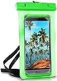 ONEFLOW® wasserdichte Handy-Hülle für alle LG Modelle | Touch- und Kamera-Fenster + Armband & Schlaufe zum Umhängen, Grün (Palm-Green)