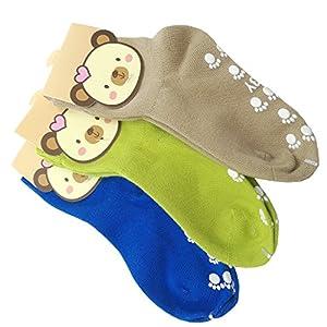TUKA Calcetines Antideslizantes Unisex para bebés 1 a 3 años, ABS Calcetines para niños niñas, no-de la resbalón de… 11