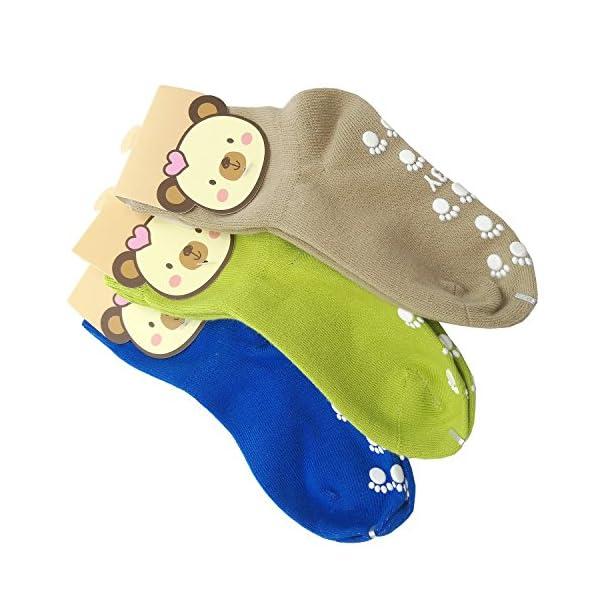 TUKA Calcetines Antideslizantes Unisex para bebés 1 a 3 años, ABS Calcetines para niños niñas, no-de la resbalón de… 1