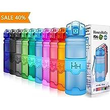 HoneyHolly Botella de Agua Deporte 400ml/500ml/700ml/1l, sin bpa tritan