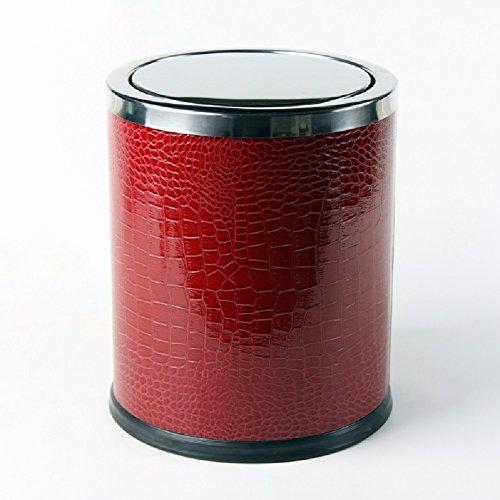 HQLCX Abfalleimer Einfache Fisch Gestreiften Metall Inneren Edelstahl Für Mülleimer,Des (Fisch Bad Mülleimer)