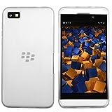 mumbi X-TPU Skin Case BlackBerry Z10 Silikon Tasche Hülle - Silicon Protector Schutzhülle transparent weiss