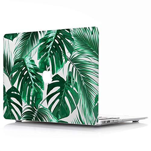 L2W Hülle Für Apple MacBook Air 13,3 Zoll 2018 Modell A1932 Mit Touch ID Laptop Computer Zubehör Plastik Glatt Drucken Tropische Palmblätter Schutz Hart Cover Tasche Muster 09