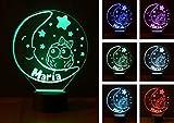 LUNA, lámpara infantil PERSONALIZADA con nombre, iluminación nocturna LED, lámpara de noche, quita miedos. Luz de noche LED. Ideal para la habitación de bebés y niños. Vendido por VPM Original