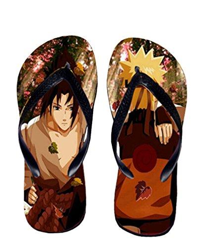 Bromeo Naruto Anime Unisex Flip Flops Zehentrenner Flip Pantoffeln 315