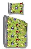 beties Kinderbettwäsche-Set Baustelle 100 x 135 cm 40 x 60cm flauschige Baumwolle in Biber 1 Stück