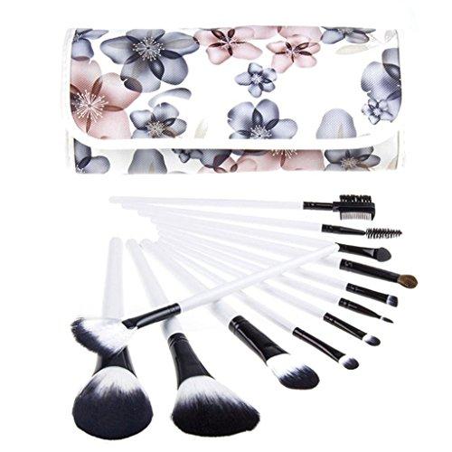Ouneed® brosse/ 12 Pcs brosse cosmétiques pinceau de maquillage Sets Kits Outils