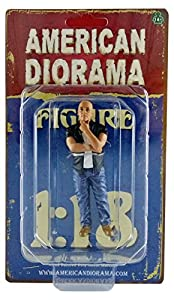 American Diorama-77431-Figura Street Racer-Figure I-Escala 1/18-Negro/Blanco