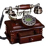 Yxyxml Téléphone rétro, Chinois en Bois Massif, téléphone européen, européen, Maison Fixe, américain, Mode, créatif, démodé, rétro, téléphone