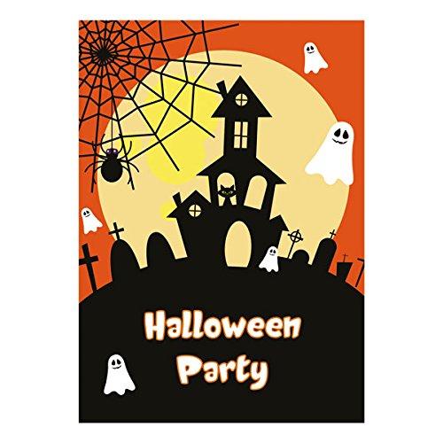 Einladungen für Kinder, gespenstische Halloween-Party, 10 Stück (evtl. nicht in deutscher Sprache)