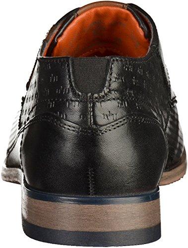 Bugatti 312105021010, Derby Homme Noir/Marron