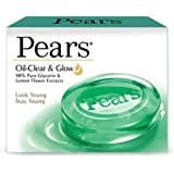Pears Bathing Soap Oil Clear and Glow, 75g (Pack of 12)