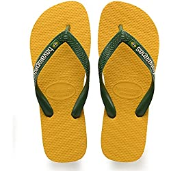 Havaianas Brasil Logo, Chanclas Unisex Adulto, Amarillo (Banana Yellow), 43/44 EU