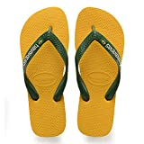 Brazil's original and authentic sandals in a wide range of colours. This model includes the Brazilian flag on the strap and the logo is coloured. With eleven different colours, there's something for every taste. The sole has 3 rubber stripes in three...
